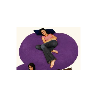 Breton Bean Bag Lounger Upholstery: Micro Suede - Purple