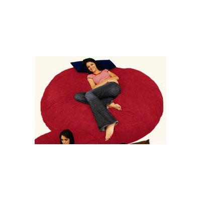 Breton Bean Bag Lounger Upholstery: Micro Suede - Cinnabar