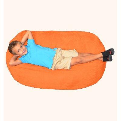 Breton Bean Bag Lounger Upholstery: Tangerine