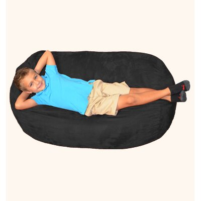 Breton Bean Bag Lounger Upholstery: Black