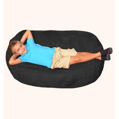 Breton Bean Bag Lounger Upholstery: Black