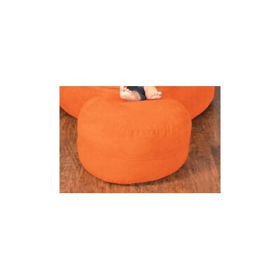 Breton Bean Bag Ottoman Upholstery: Micro Suede - Tangerine