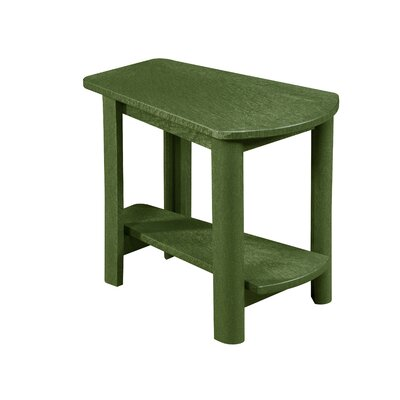 Zander Rectangle Side Table Finish: Cactus Green