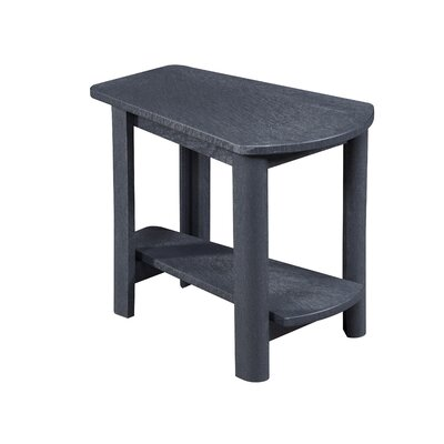 Zander Rectangle Side Table Finish: Graystone