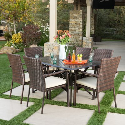 Edgewater Outdoor 7 Piece Dining Set with Cushions