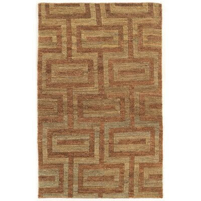 Chloraka Hand-Knotted Beige/Russet Area Rug Rug Size: Rectangle 8 x 11