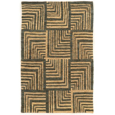 Chloraka Hand-Knotted Beige/Slate Area Rug Rug Size: Rectangle 2 x 3