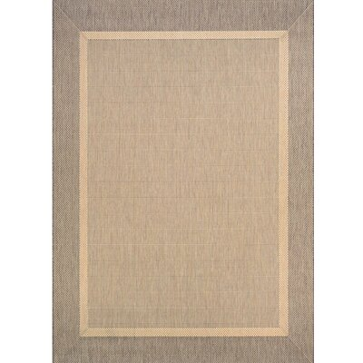 Linden Texture Beige/Brown Indoor/Outdoor Area Rug Rug Size: 39 x 55