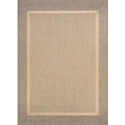 Karakum Texture Beige/Brown Indoor/Outdoor Area Rug Rug Size: 2 x 37