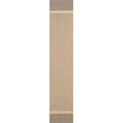 Linden Texture Beige/Brown Indoor/Outdoor Area Rug Rug Size: Runner 23 x 71