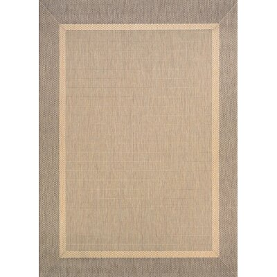 Linden Texture Beige/Brown Indoor/Outdoor Area Rug Rug Size: 510 x 92