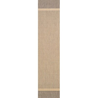 Linden Texture Beige/Brown Indoor/Outdoor Area Rug Rug Size: Runner 23 x 119