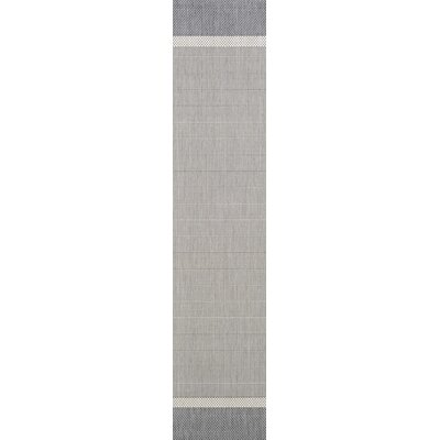 Linden Gray Indoor/Outdoor Area Rug Rug Size: Runner 23 x 119