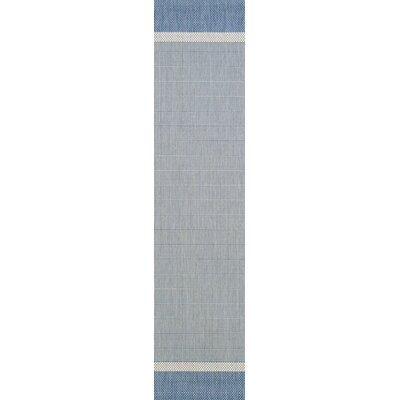 Linden Texture Blue/Gray Indoor/Outdoor Area Rug Rug Size: Runner 23 x 119