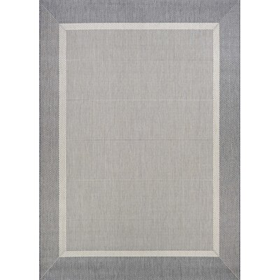 Linden Gray Indoor/Outdoor Area Rug Rug Size: 39 x 55