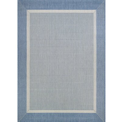 Linden Texture Blue/Gray Indoor/Outdoor Area Rug Rug Size: 510 x 92