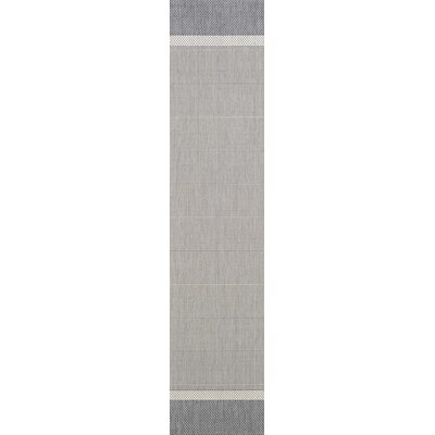 Linden Gray Indoor/Outdoor Area Rug Rug Size: Runner 23 x 71