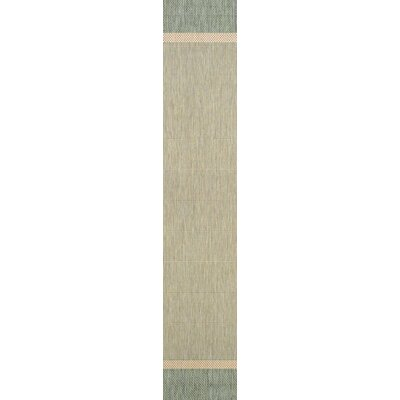 Linden Texture Green/Beige Indoor/Outdoor Area Rug Rug Size: Runner 23 x 71
