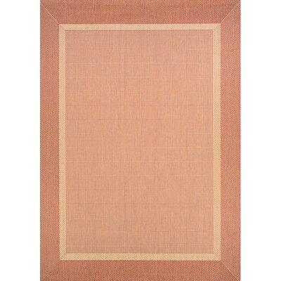 Karakum Texture Beige/Terracotta Indoor/Outdoor Area Rug Rug Size: 510 x 92