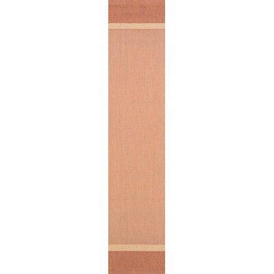 Linden Texture Beige/Terracotta Indoor/Outdoor Area Rug Rug Size: Runner 23 x 119