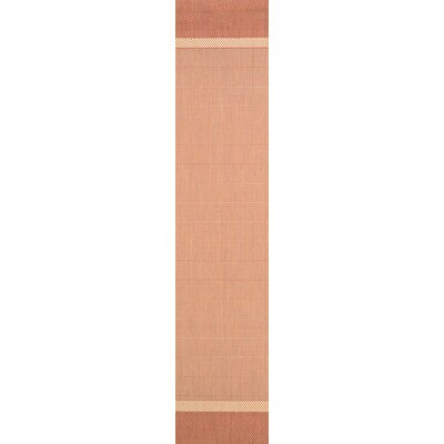 Linden Texture Beige/Terracotta Indoor/Outdoor Area Rug Rug Size: Runner 23 x 71