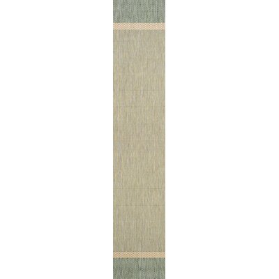 Linden Texture Green/Beige Indoor/Outdoor Area Rug Rug Size: Runner 23 x 119