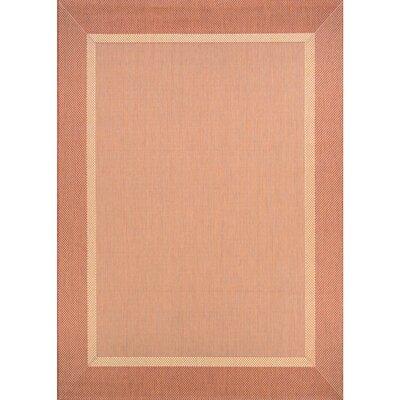 Karakum Texture Beige/Terracotta Indoor/Outdoor Area Rug Rug Size: 86 x 13