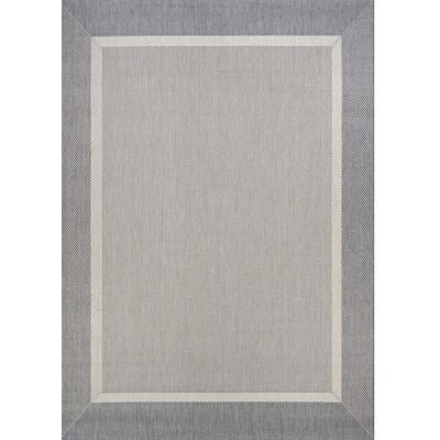 Linden Gray Indoor/Outdoor Area Rug Rug Size: Rectangle 53 x 76