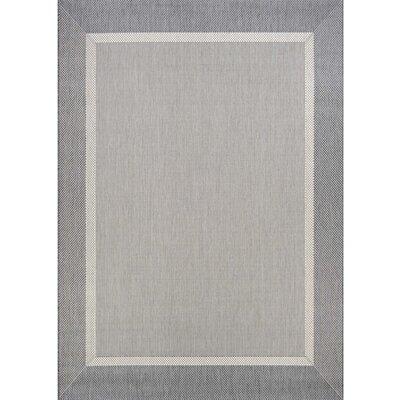 Linden Gray Indoor/Outdoor Area Rug Rug Size: Rectangle 86 x 13