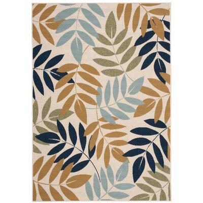 Stylli Ivory Indoor/Outdoor Area Rug Rug Size: 93 x 129