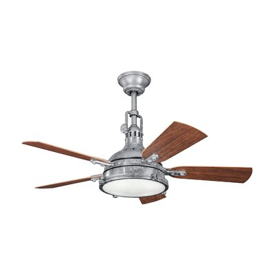 44 Dov 5 Blade Outdoor LED Ceiling Fan Finish: Galvanized Steel
