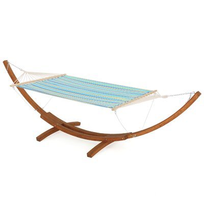 Kouklia Polyester Hammock Color: Blue/Yellow