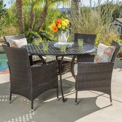 Vadili 5 Piece Dining Set with Cushions