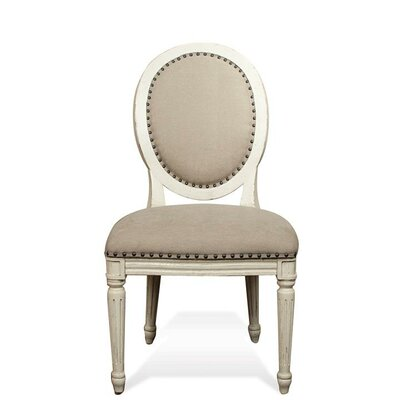 Hilliard Upholstered Oval Side Chair (Set of 2)