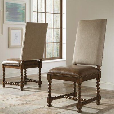 Melbourne Genuine Leather Upholstered Dining Chair (Set of 2)