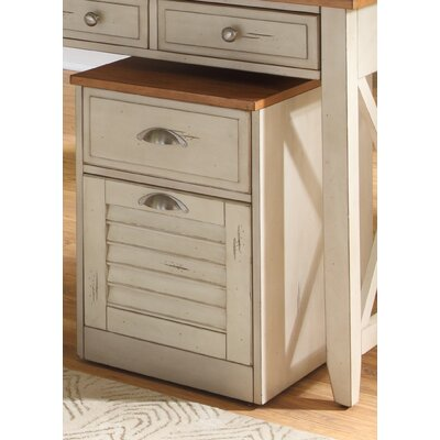 Duval 2 Drawer Mobile File Cabinet