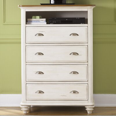 Duval 4 Drawer Media Chest