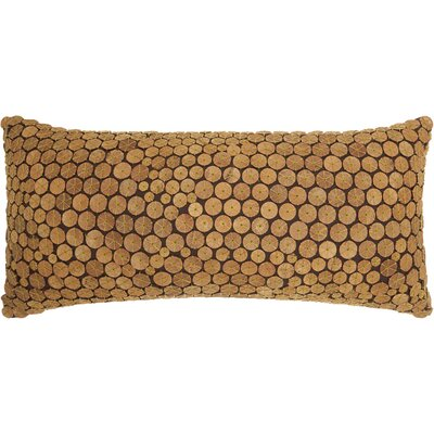 Fadila 100% Cotton Lumbar Pillow Color: Green