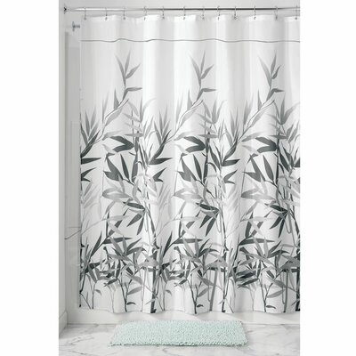 Barleria Shower Curtain Color: Gray