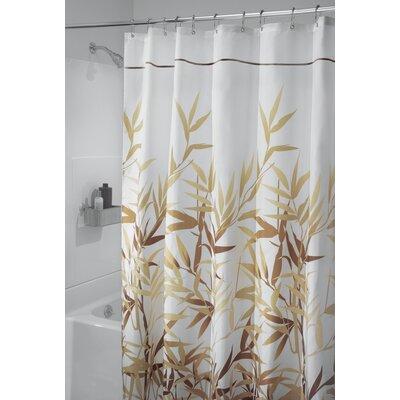 Barleria Shower Curtain Color: Brown