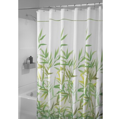 Barleria Shower Curtain Color: Green