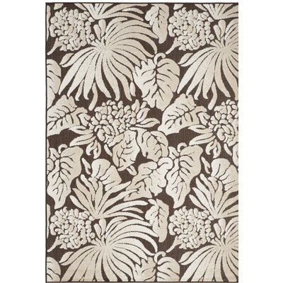 Vretsia Brown/Beige Outdoor Area Rug Rug Size: 33 x 53