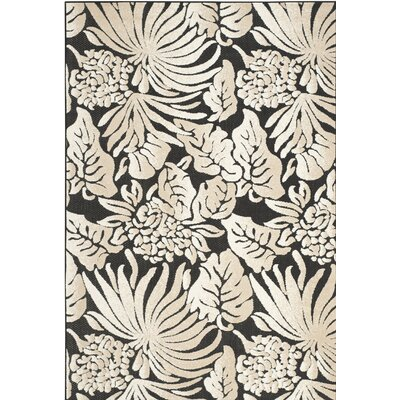 Vretsia Black/Beige Outdoor Area Rug Rug Size: Rectangle 4 x 6