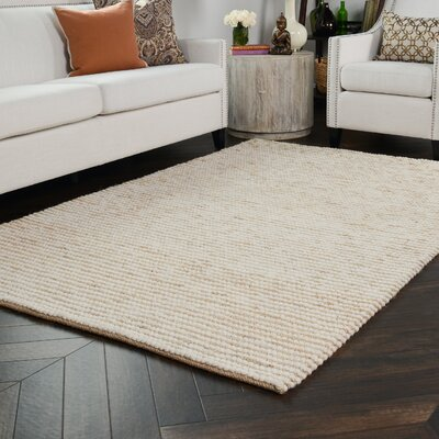 Kiti Hand-Woven Ivory/Natural Area Rug Rug Size: 8 x 10