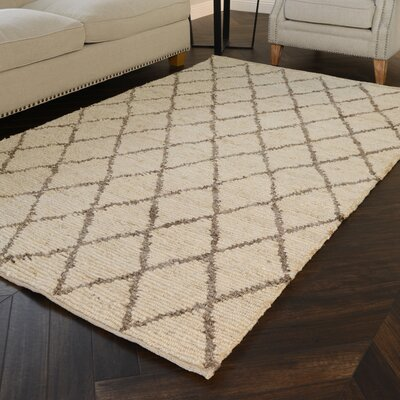 Kissonerga Hand-Woven Dark Jute/Sand Area Rug