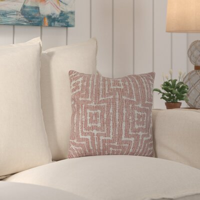 Thirlby Outdoor Throw Pillow Size: 18 H x 18 W x 3 D, Color: Orange