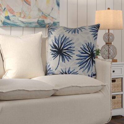 Costigan Throw Pillow Color: Blue, Size: 18 H x 18 W x 3 D
