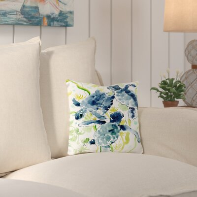 Adamsville Sea Turtles Throw Pillow Size: 14 H x 14 W x 2 D