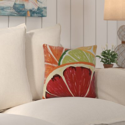 Costigan Lemonade Geometric Print Outdoor Throw Pillow Size: 18 H x 18 W x 3 D
