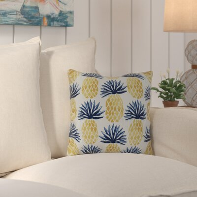 Costigan Pineapple Stripes Outdoor Throw Pillow Color: Blue, Size: 20 H x 20 W x 3 D